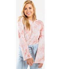 phyliss tie-dye sweatshirt - pale pink