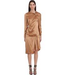 versace dress in brown silk