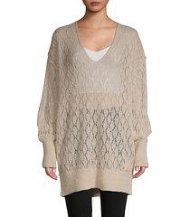 v-neck balloon-sleeve sweater