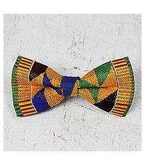 cotton kente bow tie, 'edwin asa' (ghana)