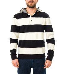 tommy hilfiger felpa uomo tommy jeans lh striped hooded mw0mw15292.ybi