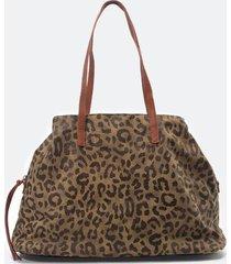 kip leopard canvas tote - leopard