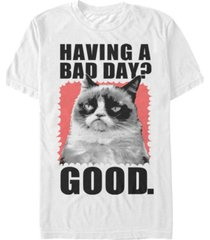 grumpy cat men's having a bad day short sleeve t-shirt