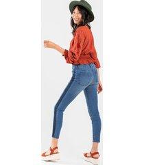 harper heritage mid rise dark seam skinny jeans - medium wash