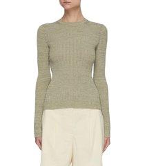 rib cotton wool blend crewneck sweater