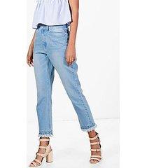 tall bethany gathered distressed hem jeans