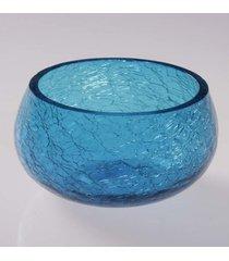 cachepot vela craquelado- pashmina- cachepot vela craquelado- azul