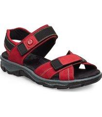 68851-00 shoes summer shoes flat sandals röd rieker