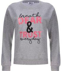buzo mujer dear trust color gris, talla s