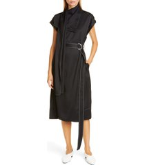 women's proenza schouler drape neck scarf midi dress