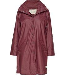 dashing drizzel rain jacket regnkläder röd odd molly
