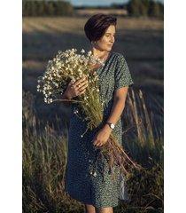 bawełniana sukienka sekwoja zielona