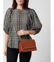strathberry women's east/west shoulder bag - chestnut