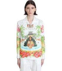 casablanca shirt in white cotton