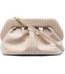 themoirè leather slouchy tote bag - neutrals