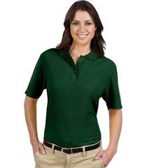 otto ladies' 5.6 oz. pique knit sport shirts dk. green (3xl)