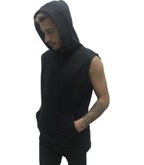 chaleco negro desigual