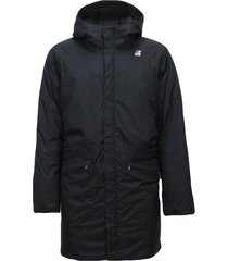 black man winter hooded coat