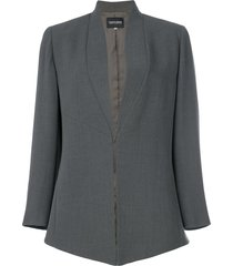 giorgio armani pre-owned shawl collar jacket - grey