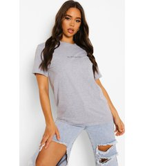 her vibe is powerful t-shirt, grey marl