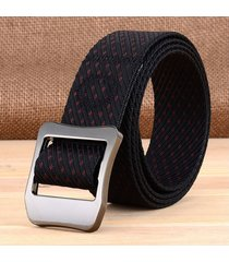 cinturón de hombres, moda hipster al aire libre-negro