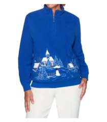 alfred dunner women's misses soft scenic pullover