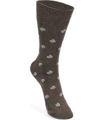 calcetines de algodón café florsheim