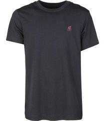 hogan round neck logo detail t-shirt
