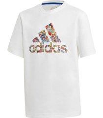 camiseta manga curta adidas b art tee branco - branco - menino - dafiti