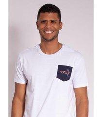 camiseta aleatory estampada golf com bolso masculina - masculino