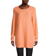 eileen fisher women's roundneck cotton top - orange - size xl