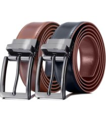 mio marino men's traditional reversible leather belt