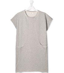 andorine teen fleece sweat dress - grey