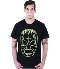 camiseta hardivision lucha libre manga curta