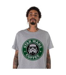 camiseta stoned star wars coffee cinza