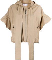 redvalentino hooded poplin jacket - neutrals