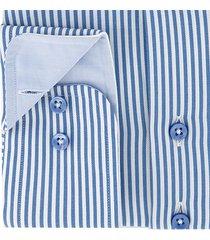 sleeve7 heren overhemd blauw witte streep twill modern fit