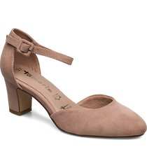 woms slip-on shoes heels pumps classic beige tamaris