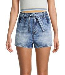 sts blue women's mila high-rise paperbag denim shorts - highwood - size 29 (6-8)