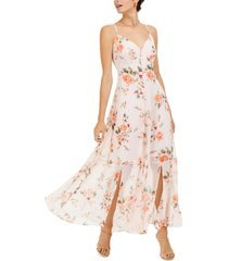 bar iii floral-print sleeveless maxi dress, created for macy's