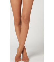 calzedonia 20 denier sheer matte tights woman nude size 1/2