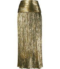 saint laurent lurex skirt