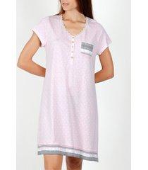pyjama's / nachthemden admas nachtjapon met korte mouwen kleine stippen