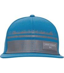 boné graphic flat brim - azul