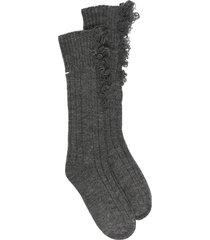 maison margiela frayed socks - grey