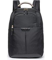 mochila executiva feminina madami casual chic notebook reforçada 01 preto - kanui