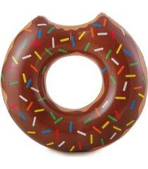 rhinomaster play gourmet chocolate doughnut - inflatable swimming pool tube