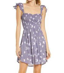 women's tiare hawaii hollie off the shoulder cover-up dress, size one size - purple
