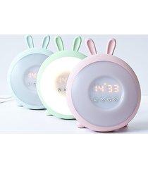 lampka dla dzieci zegar budzik królik niebieski