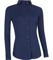 cavallaro nosta dames overhemd blauw poplin italian fit